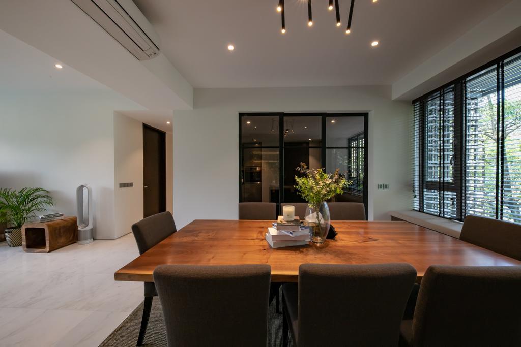 Contemporary, Condo, Dining Room, The Belmont, Interior Designer, Space Atelier