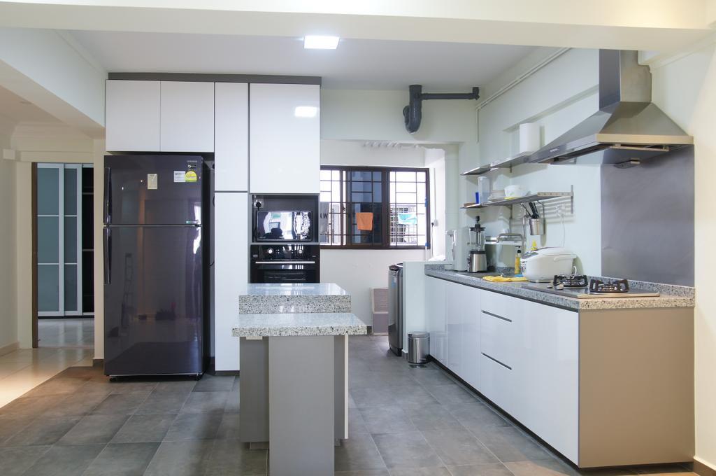 Modern, HDB, Kitchen, Woodlands Drive 14, Interior Designer, Domeco Interior