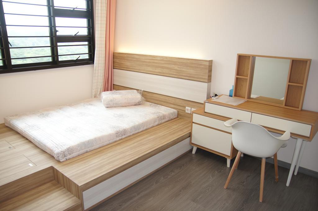 Contemporary, HDB, Bedroom, Segar Road, Interior Designer, Domeco Interior