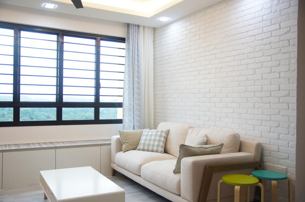 Contemporary, HDB, Living Room, Segar Road, Interior Designer, Domeco Interior