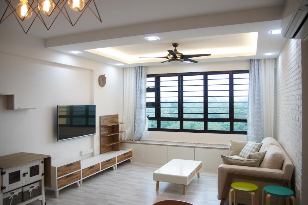 Contemporary, HDB, Living Room, Segar Road, Interior Designer, Domeco Interior