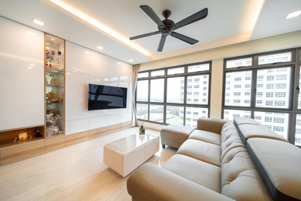 Contemporary, HDB, Living Room, Anchorvale Crescent, Interior Designer, Domeco Interior