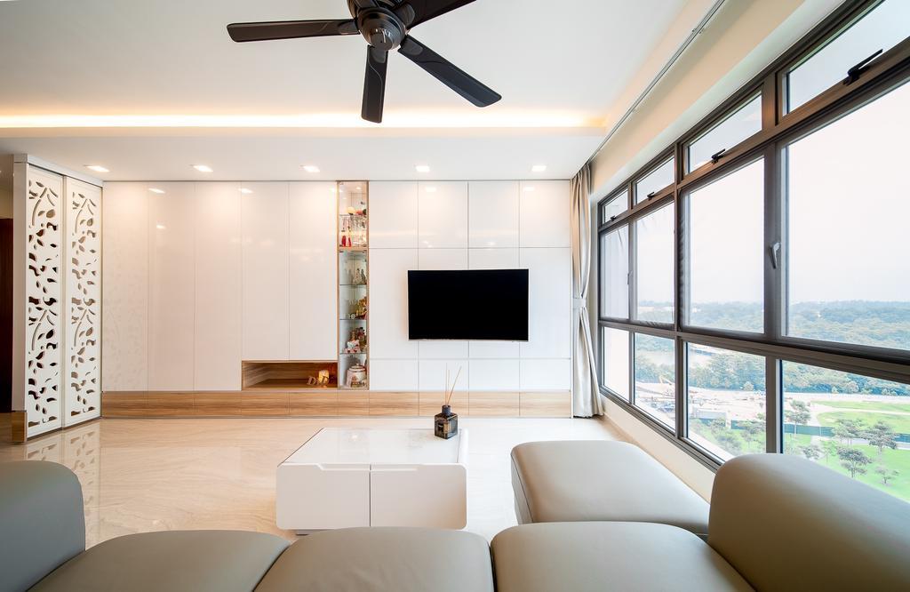 Contemporary, HDB, Living Room, Anchorvale Crescent, Interior Designer, Domeco Interior