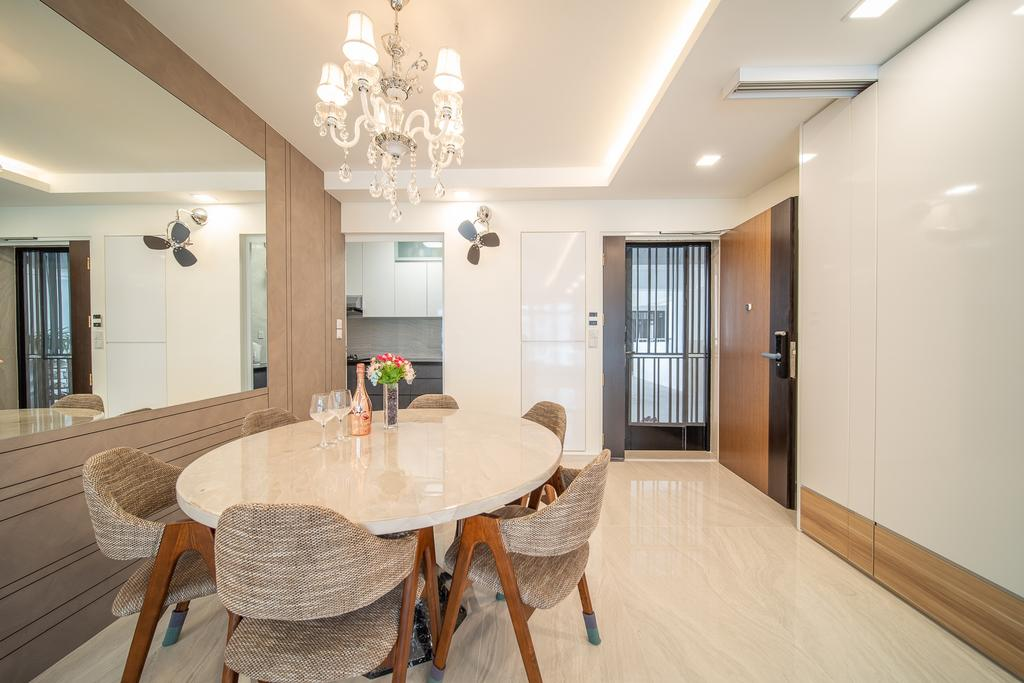 Contemporary, HDB, Dining Room, Anchorvale Crescent, Interior Designer, Domeco Interior