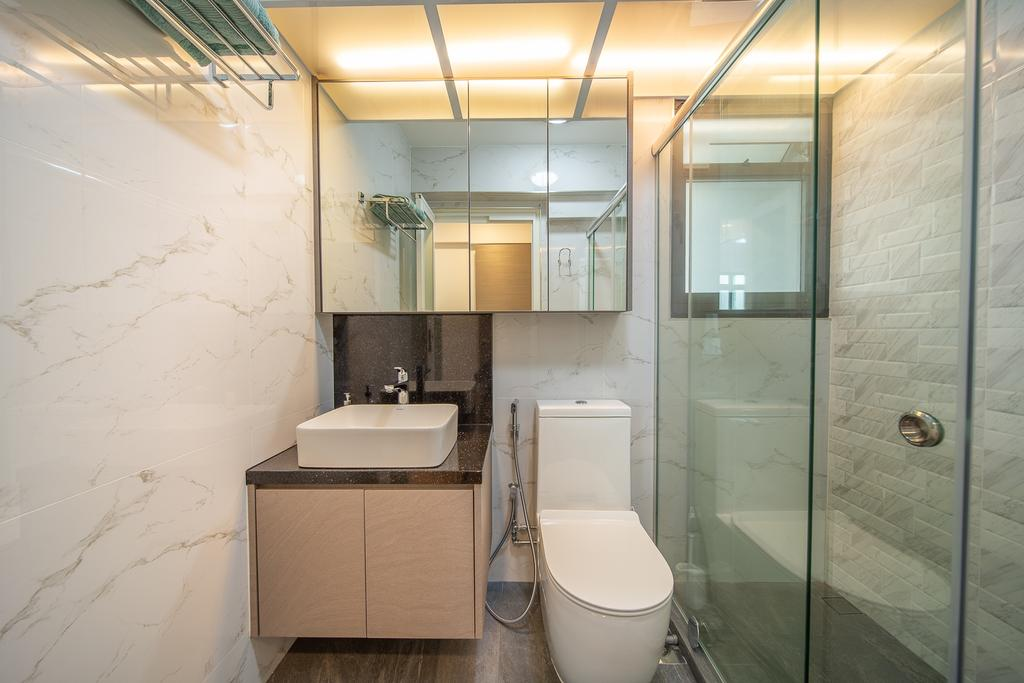 Contemporary, HDB, Bathroom, Anchorvale Crescent, Interior Designer, Domeco Interior