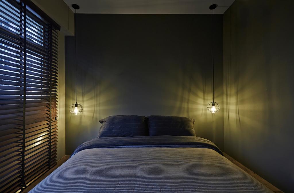 Industrial, HDB, Bedroom, Sumang Walk, Interior Designer, Fuse Concept