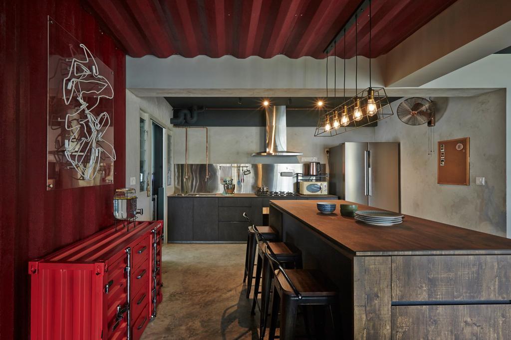 Industrial, HDB, Dining Room, Sumang Walk, Interior Designer, Fuse Concept