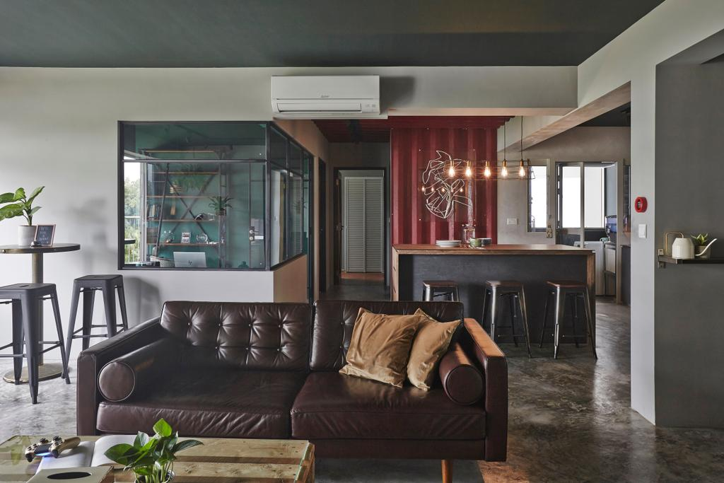 Industrial, HDB, Sumang Walk, Interior Designer, Fuse Concept