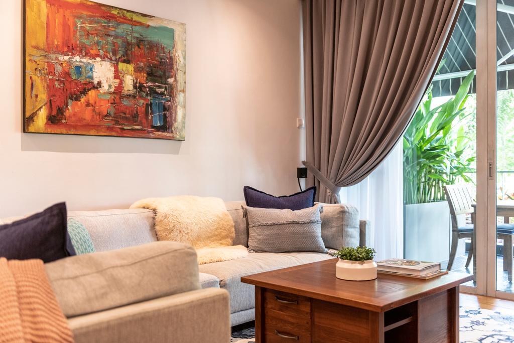 Contemporary, Condo, Living Room, Park Green, Interior Designer, Meter Square