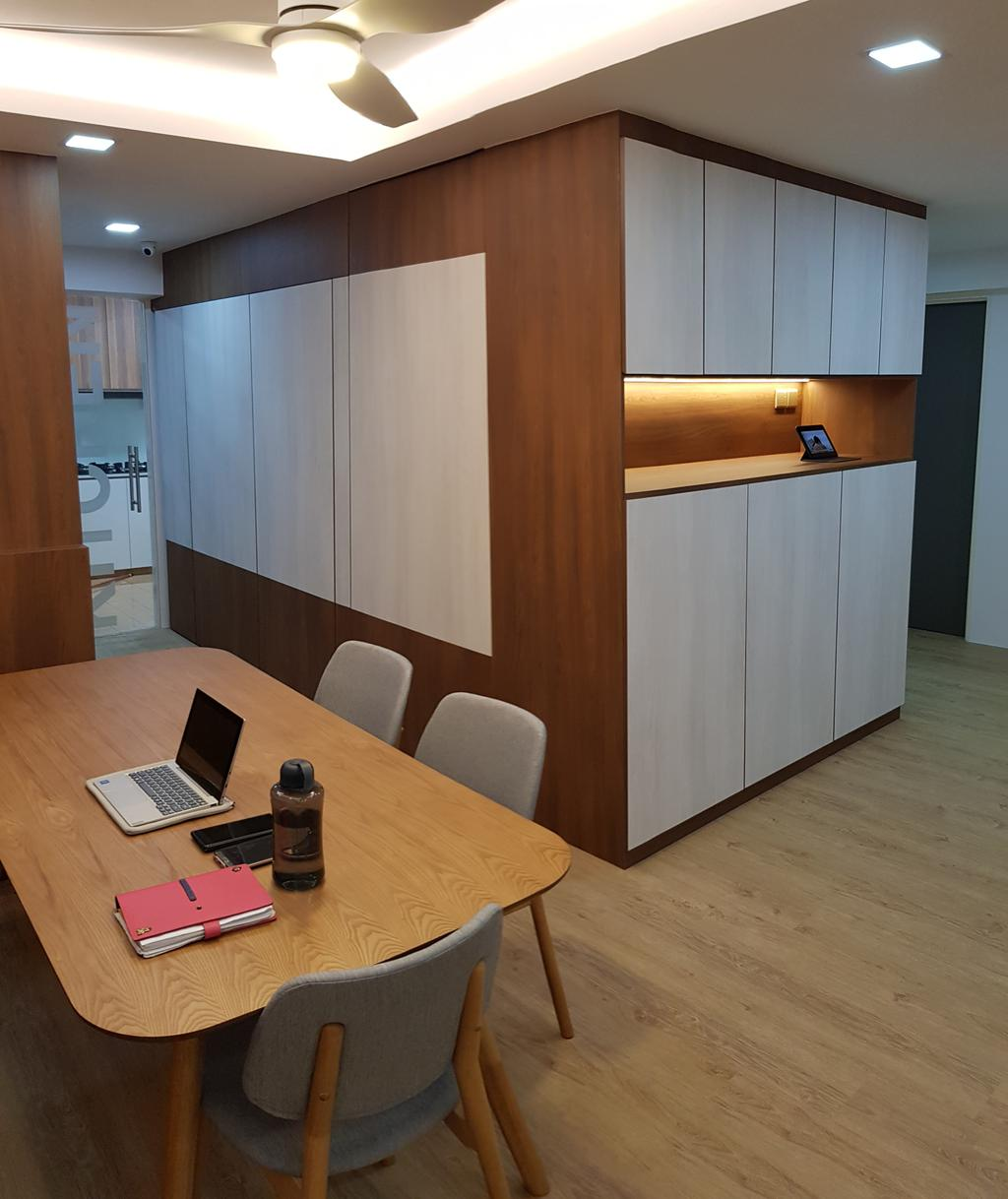 Contemporary, HDB, Dining Room, Anchorvale Lane, Interior Designer, APH Projects