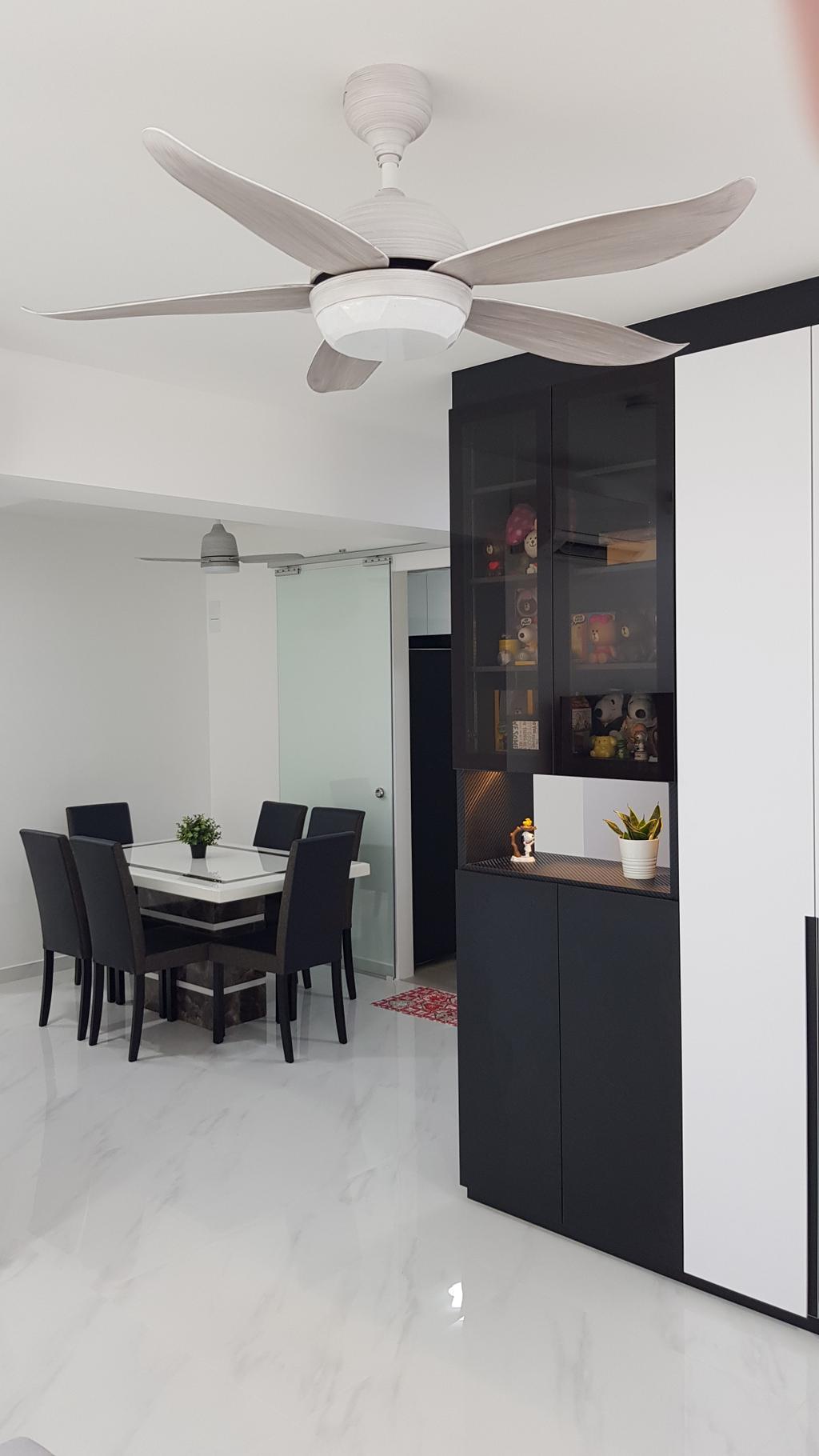 Contemporary, HDB, Dining Room, Blossom Spring @ Yishun, Interior Designer, APH Projects