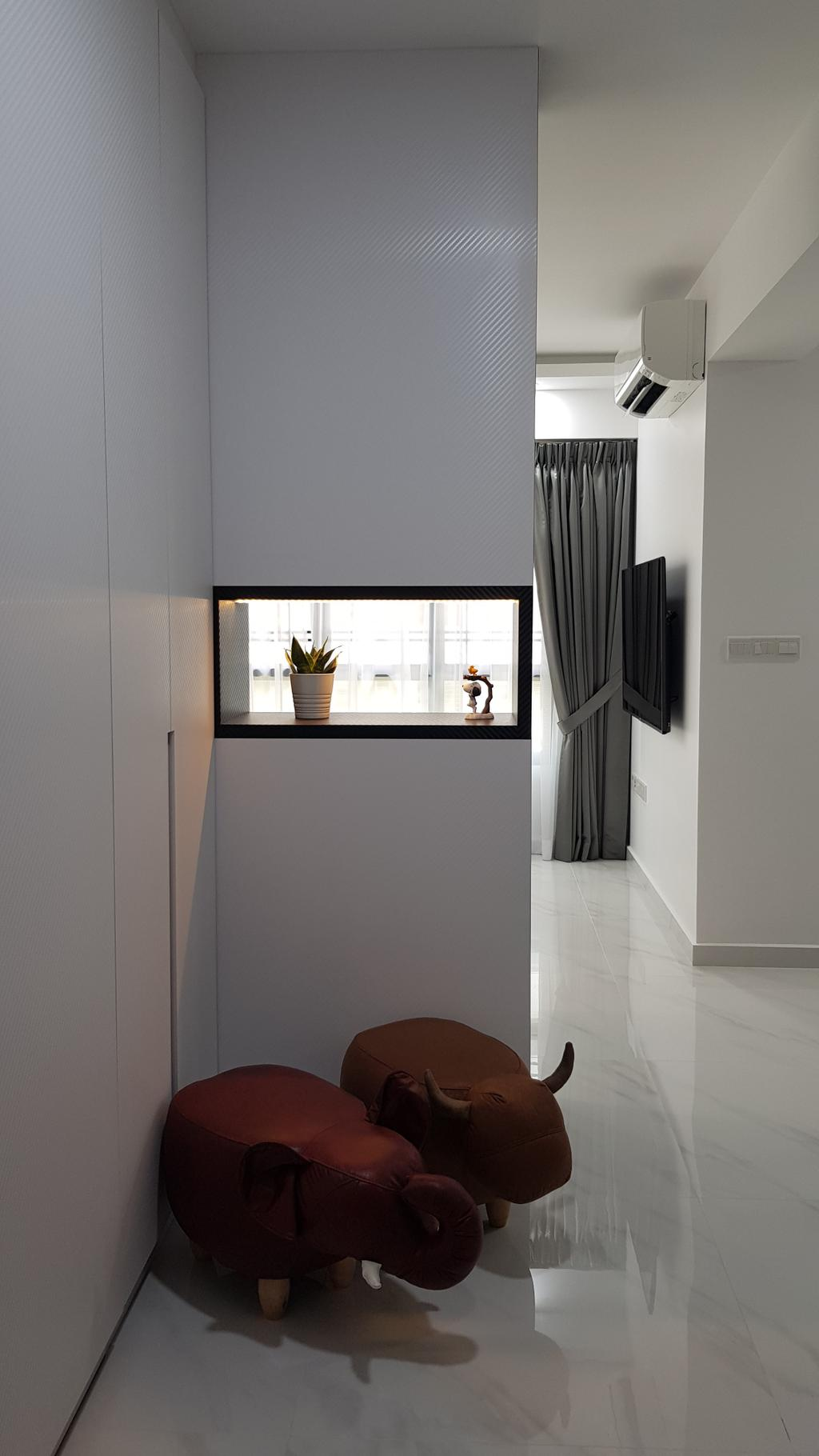Contemporary, HDB, Living Room, Blossom Spring @ Yishun, Interior Designer, APH Projects
