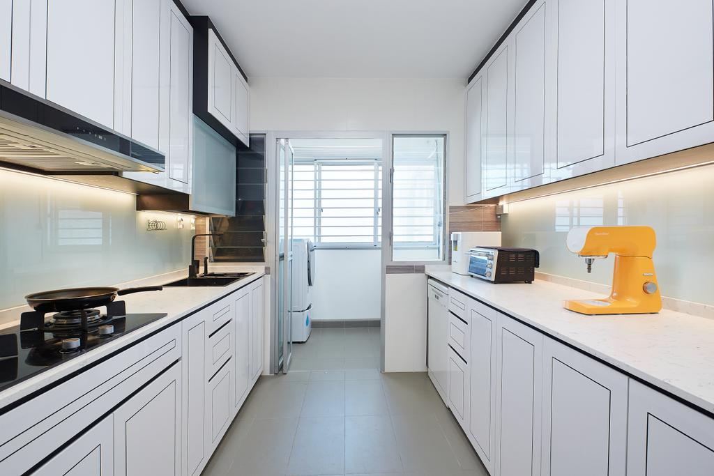 Contemporary, HDB, Kitchen, Woodlands Street 13, Interior Designer, APH Projects