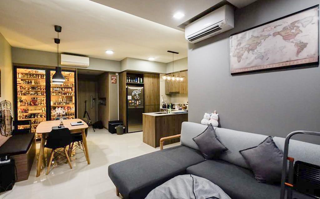 Contemporary, Condo, Living Room, Sol Acres, Interior Designer, APH Projects