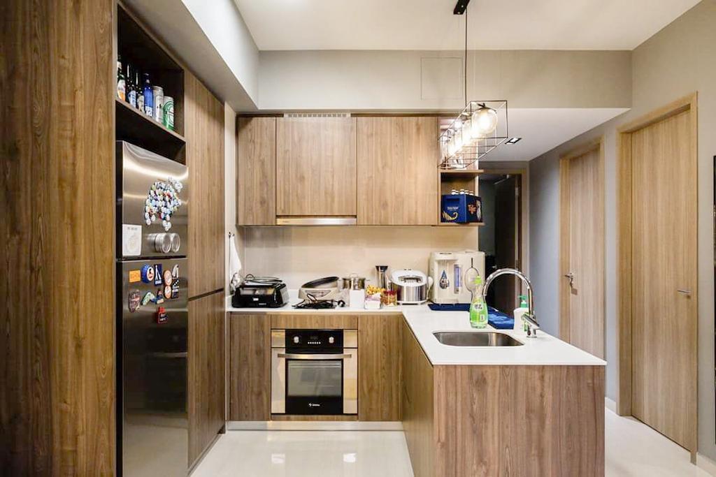 Contemporary, Condo, Kitchen, Sol Acres, Interior Designer, APH Projects