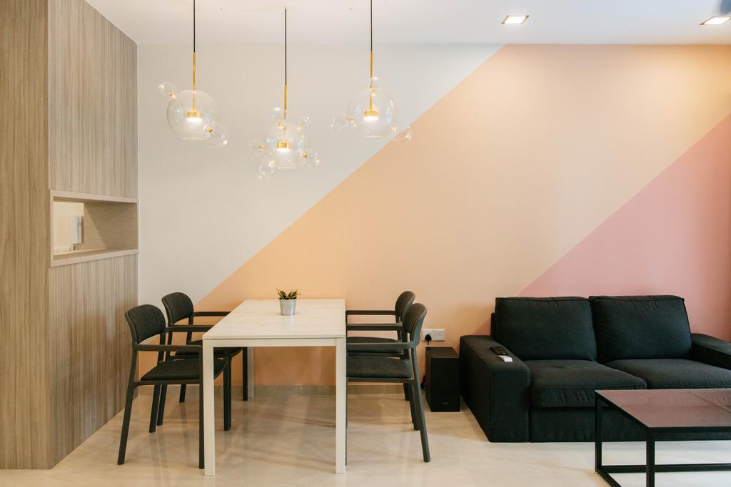 Contemporary, Condo, Living Room, Signature At Yishun, Interior Designer, Ascend Design