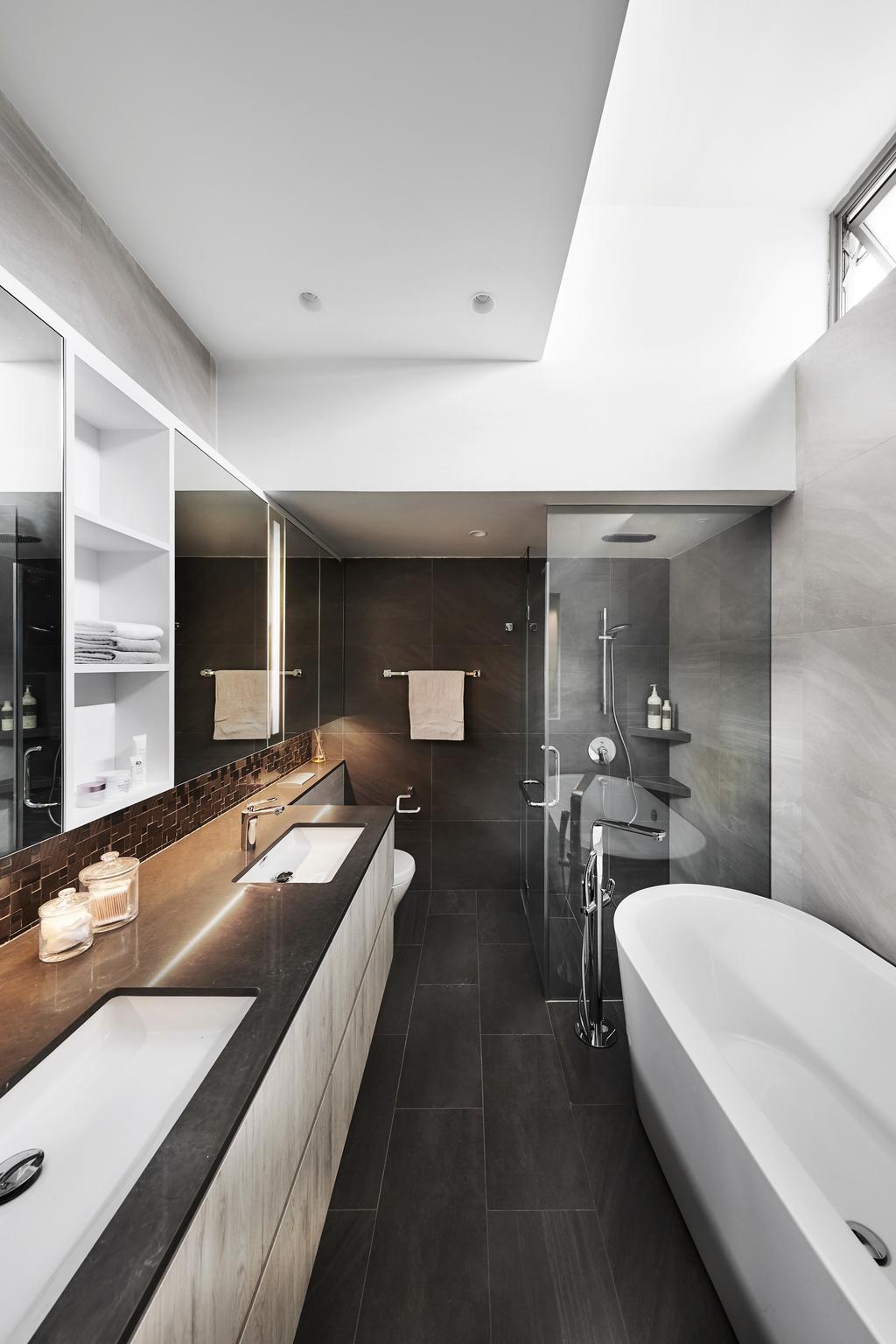 Contemporary, Condo, Bathroom, The Shelford, Interior Designer, Third Avenue Studio, Bath Tub, Bathtub