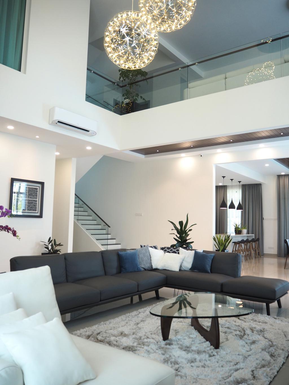 Contemporary, Landed, Living Room, Denai Alam, Shah Alam, Interior Designer, Meridian Interior Design