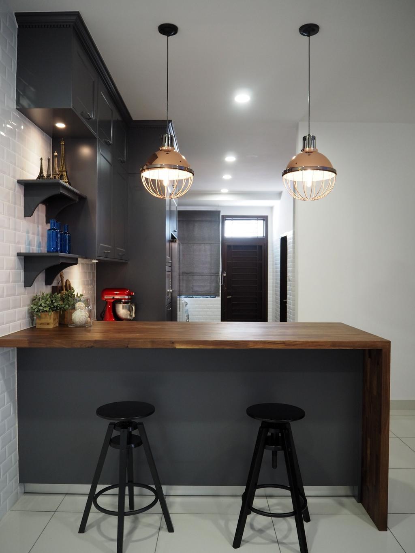 Modern, Landed, Kitchen, Glenmarie, Shah Alam, Interior Designer, Meridian Interior Design