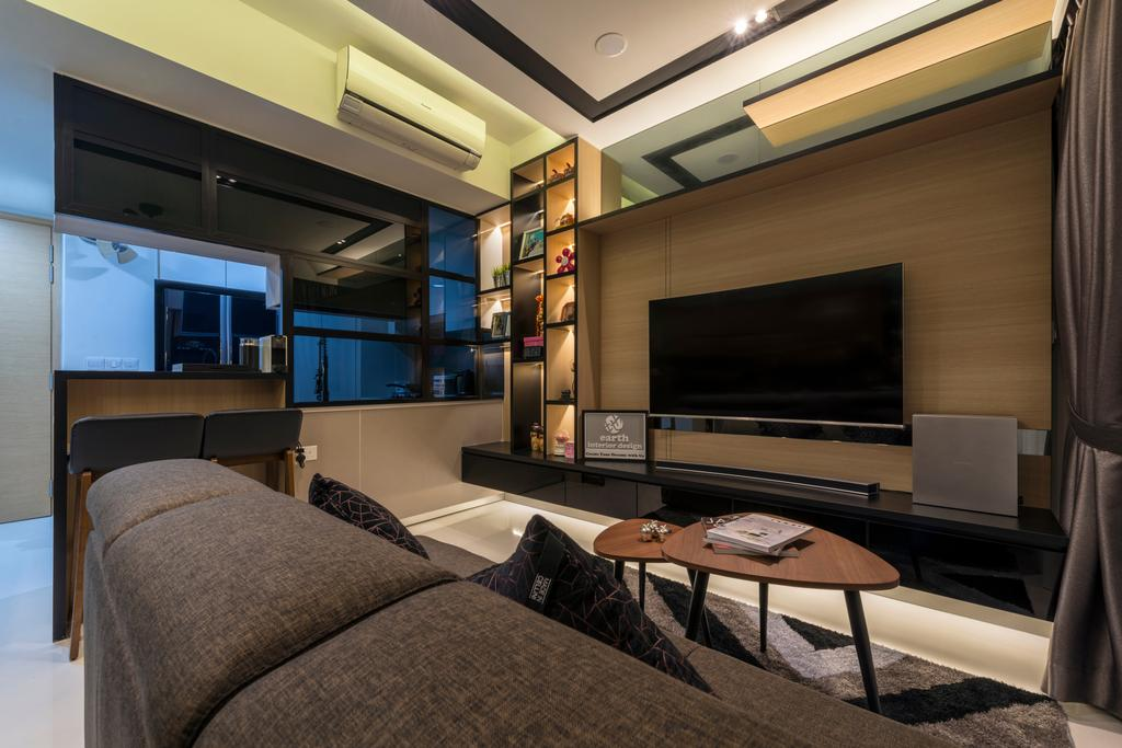 Contemporary, Condo, Living Room, Hedge Park, Interior Designer, Earth Interior Design Pte Ltd