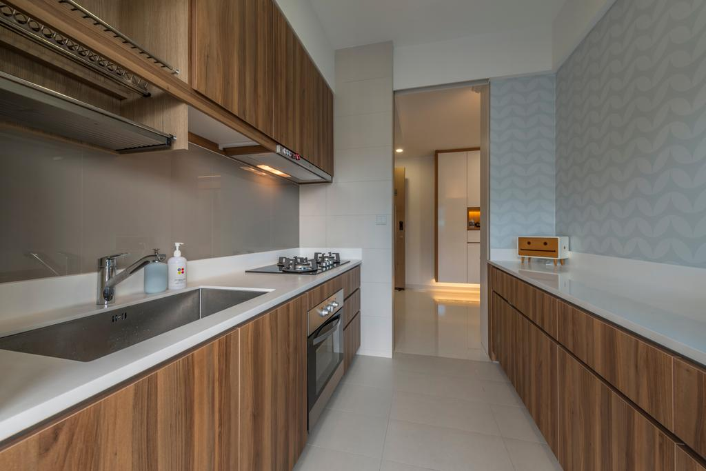 Contemporary, Condo, Kitchen, Q Bay Residences, Interior Designer, Earth Interior Design Pte Ltd