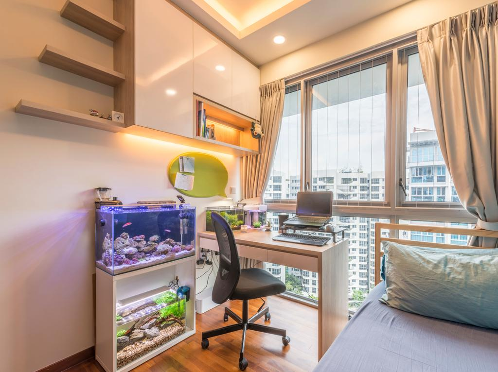 Contemporary, Condo, Bedroom, Q Bay Residences, Interior Designer, Earth Interior Design Pte Ltd