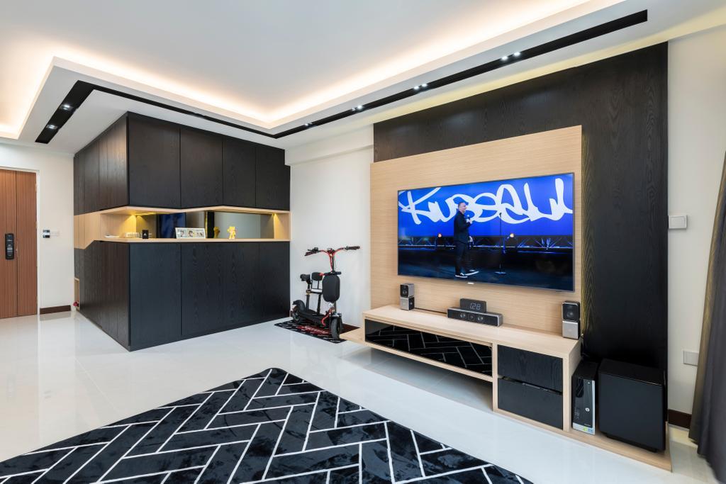 Modern, HDB, Living Room, Woodlands Rise, Interior Designer, Earth Interior Design Pte Ltd