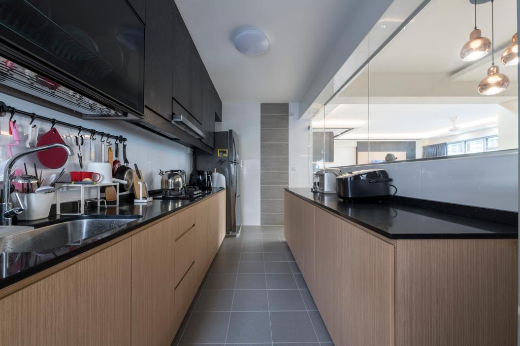 Modern, HDB, Dining Room, Woodlands Rise, Interior Designer, Earth Interior Design Pte Ltd