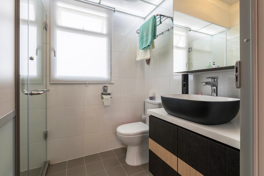 Modern, HDB, Bathroom, Woodlands Rise, Interior Designer, Earth Interior Design Pte Ltd