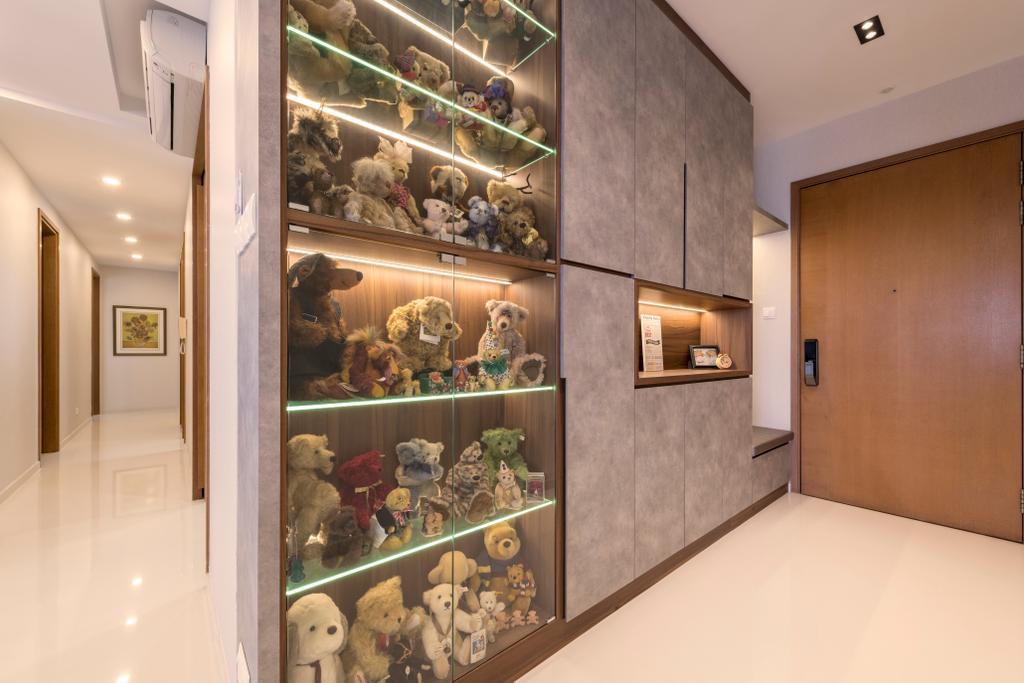 Contemporary, Condo, Living Room, Seaview, Interior Designer, Earth Interior Design Pte Ltd