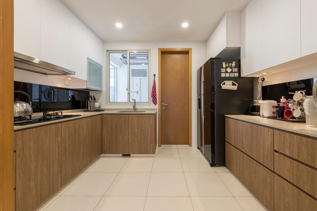Contemporary, Condo, Kitchen, Seaview, Interior Designer, Earth Interior Design Pte Ltd