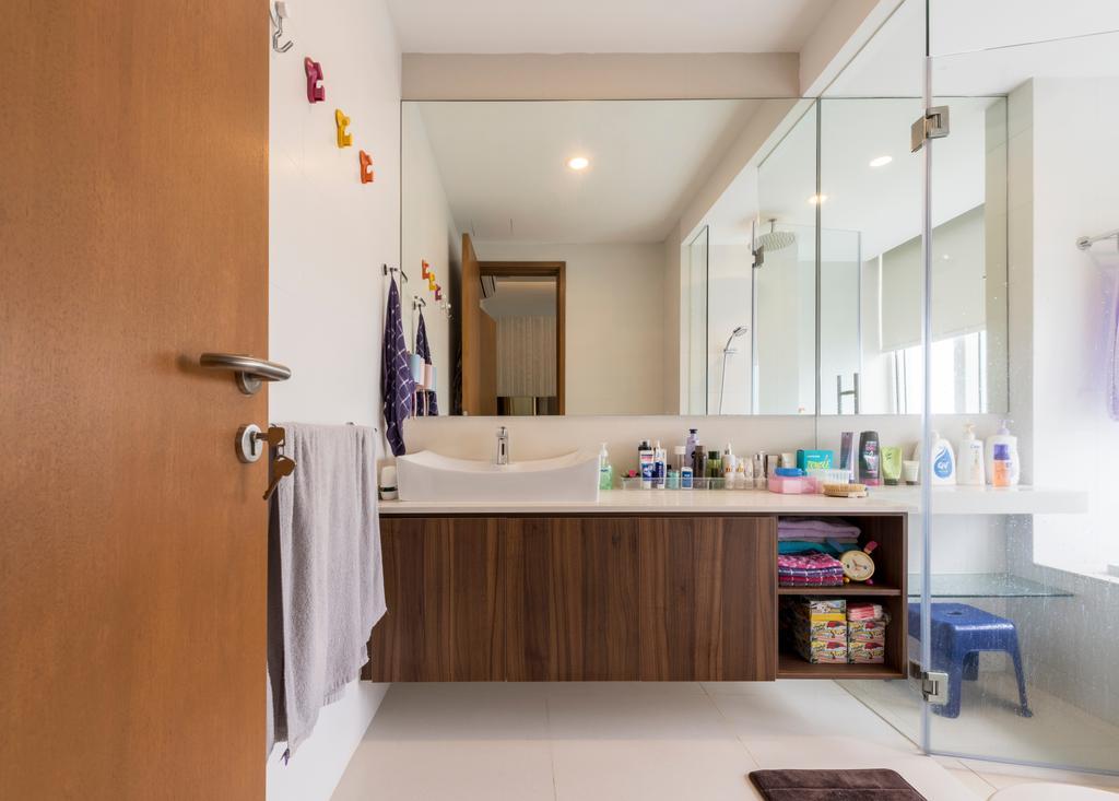 Contemporary, Condo, Bathroom, Seaview, Interior Designer, Earth Interior Design Pte Ltd