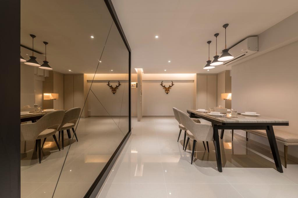 Modern, HDB, Dining Room, Jurong West (Block 605), Interior Designer, Earth Interior Design Pte Ltd