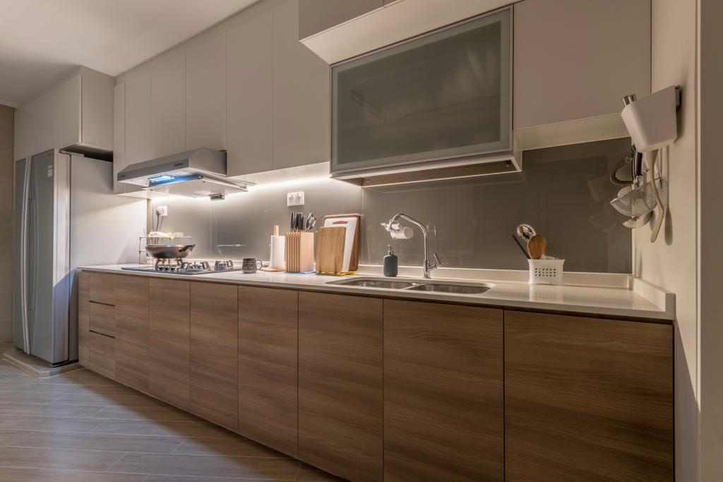 Modern, HDB, Kitchen, Jurong West (Block 605), Interior Designer, Earth Interior Design Pte Ltd