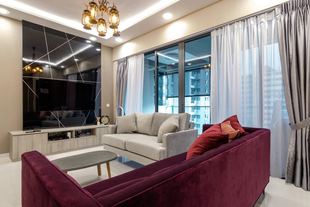 Contemporary, Condo, Living Room, Trilive, Interior Designer, 9 Creation
