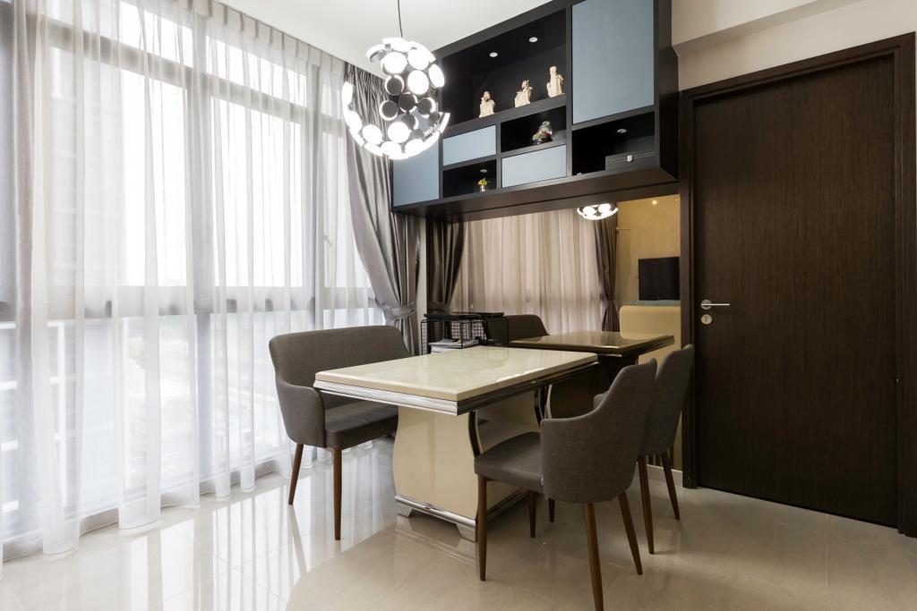 Contemporary, Condo, Dining Room, Symphony Suites, Interior Designer, Craftwerkz Interior