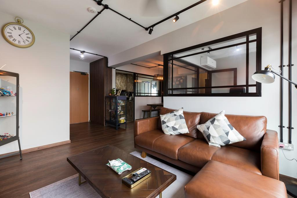 Contemporary, HDB, Living Room, Woodlands Street 13, Interior Designer, Kome Interior
