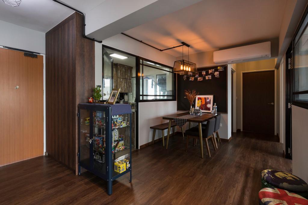 Contemporary, HDB, Dining Room, Woodlands Street 13, Interior Designer, Kome Interior