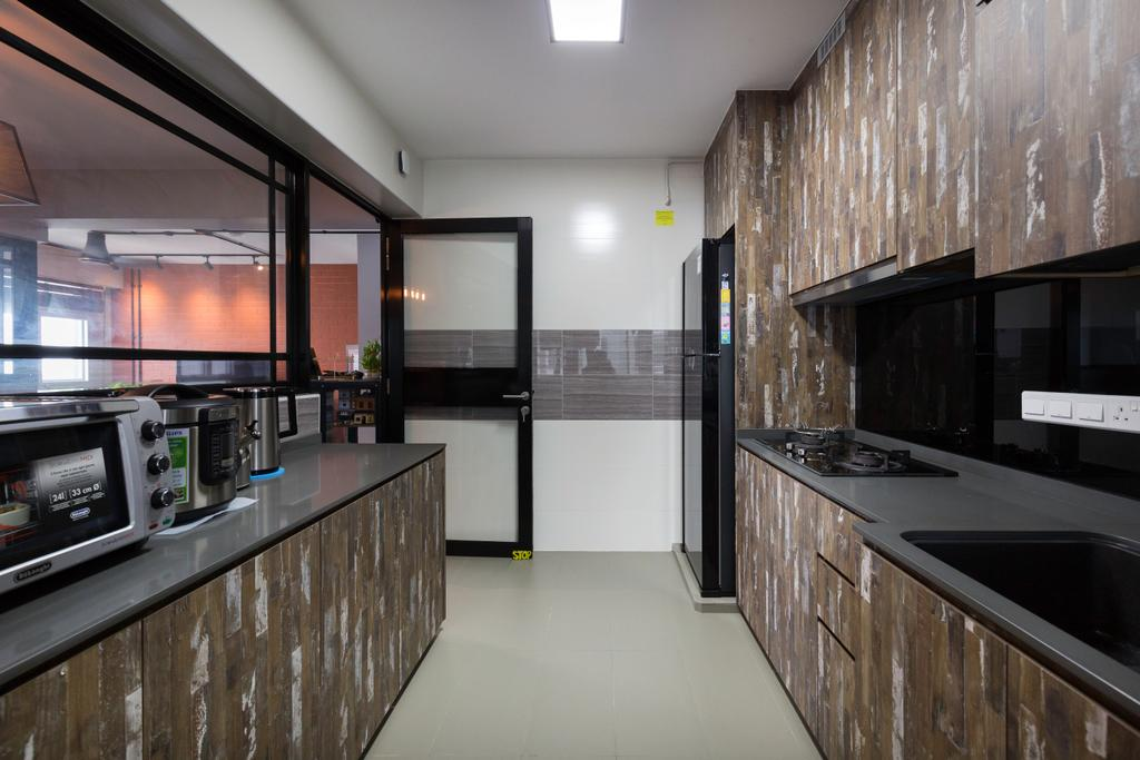 Contemporary, HDB, Kitchen, Woodlands Street 13, Interior Designer, Kome Interior