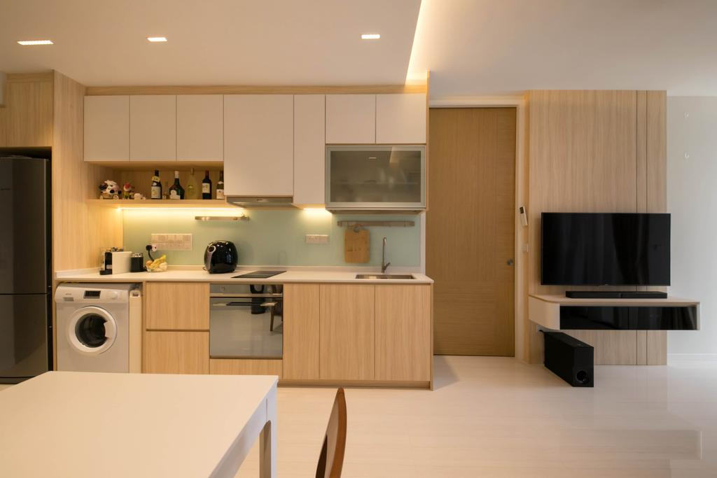 Scandinavian, Condo, Kitchen, Saint Riz, Interior Designer, Space Atelier