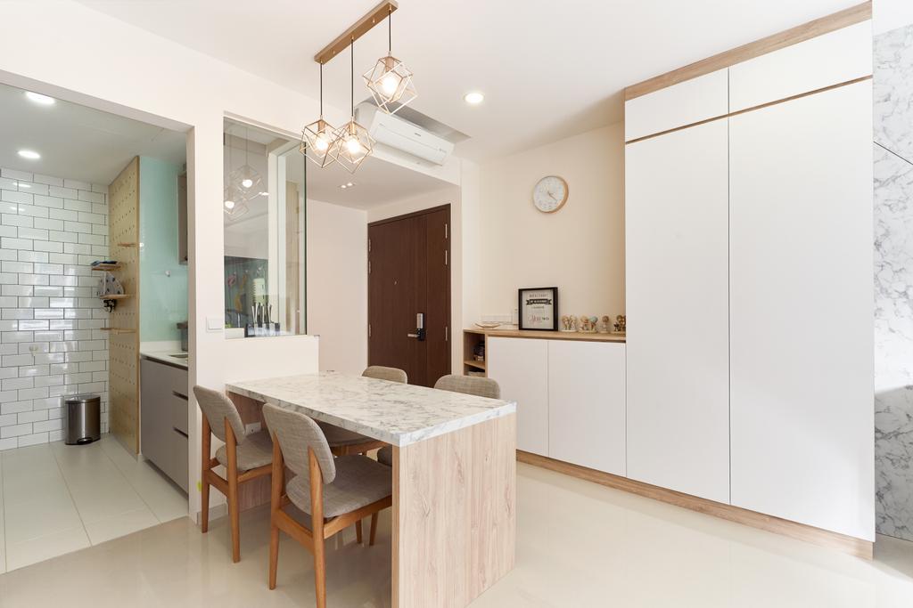 Contemporary, Condo, Dining Room, The Visionaire, Interior Designer, Charlotte's Carpentry