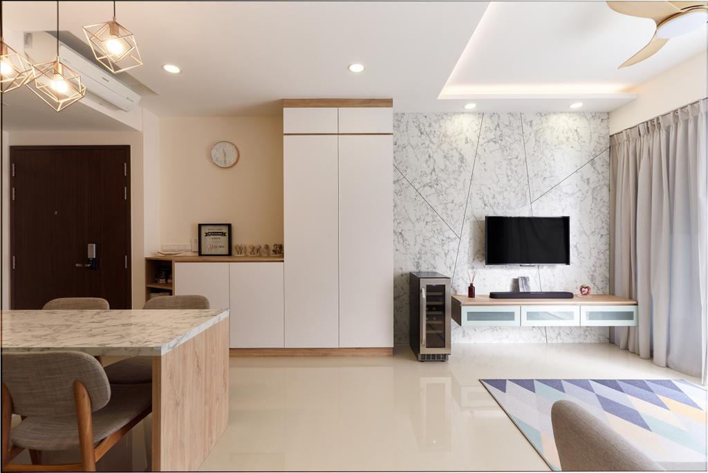 Contemporary, Condo, Living Room, The Visionaire, Interior Designer, Charlotte's Carpentry