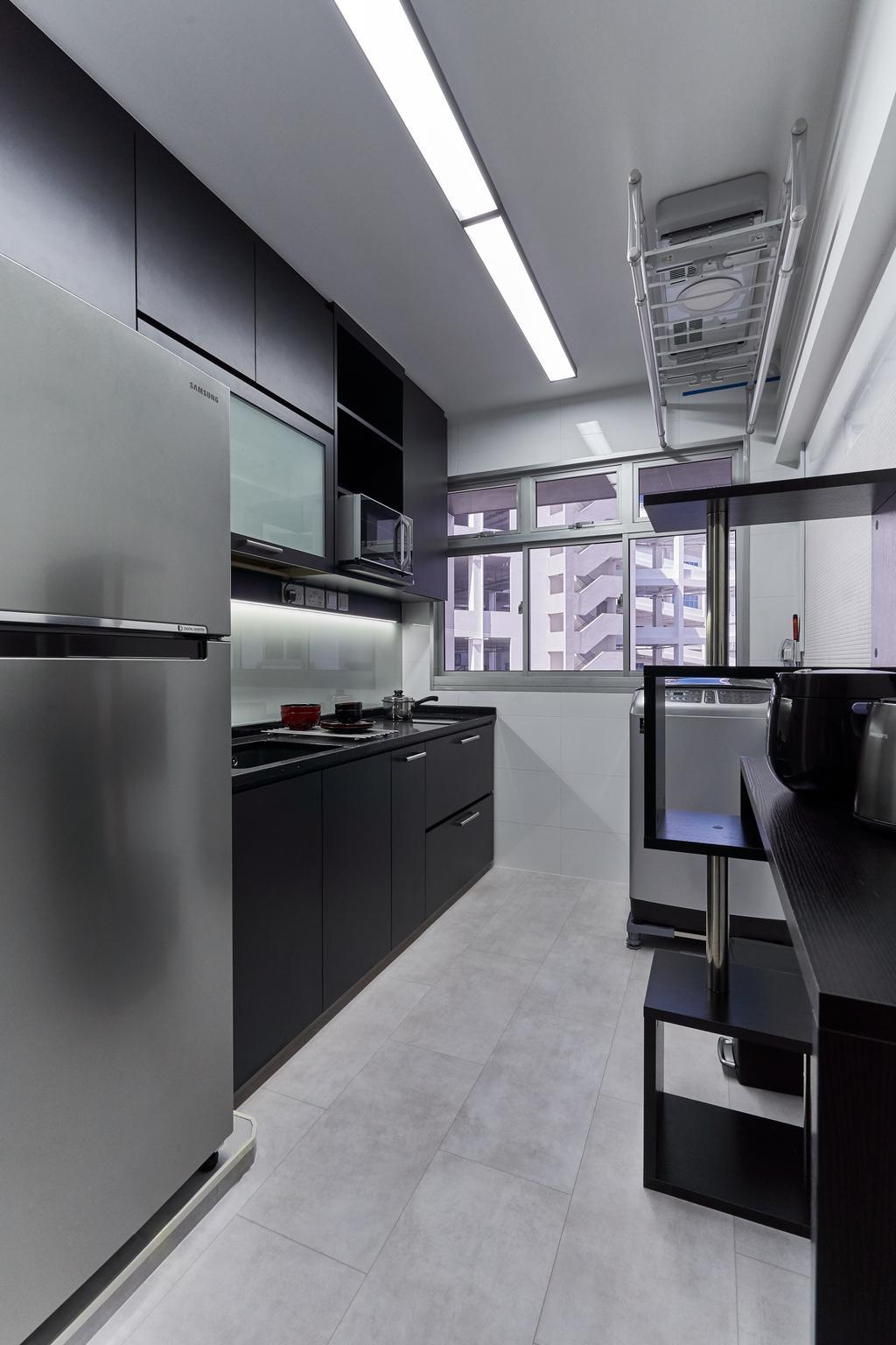 Modern, HDB, Kitchen, Sembawang Crescent, Interior Designer, Noble Interior Design