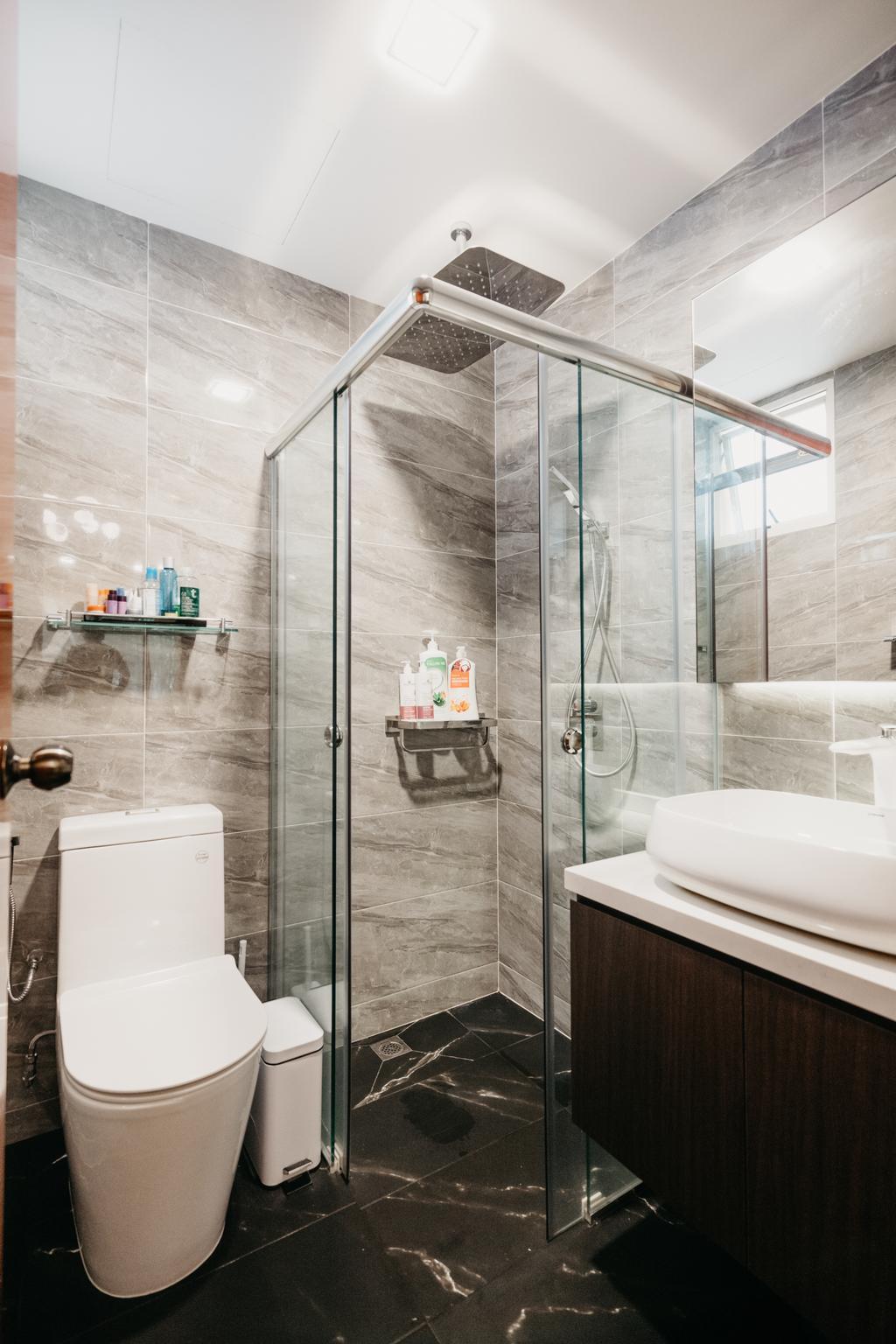 Contemporary, Condo, Bathroom, Seletar Springs, Interior Designer, SHE Interior, Eclectic