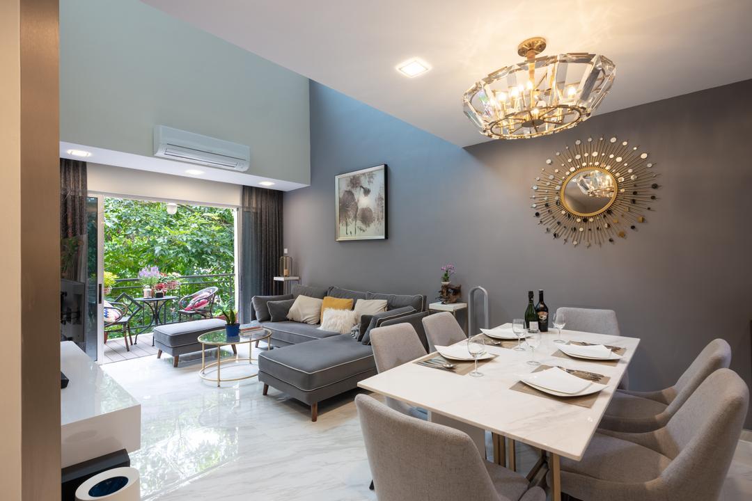 Seletar Springs Living Room Interior Design 12