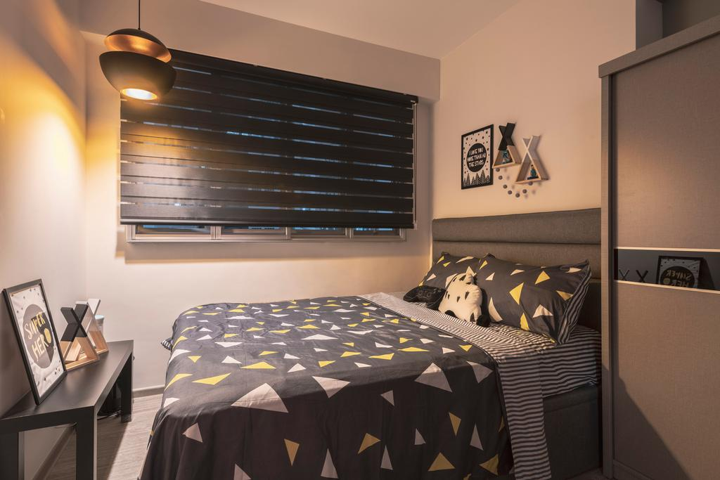 Contemporary, HDB, Bedroom, Woodlands Street 13, Interior Designer, SHE Interior, Scandinavian