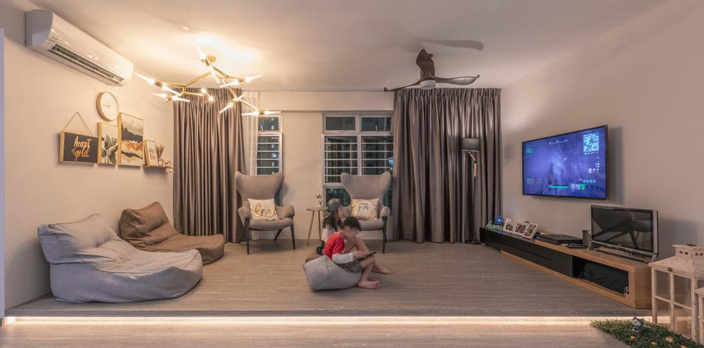Contemporary, HDB, Living Room, Woodlands Street 13, Interior Designer, SHE Interior, Scandinavian