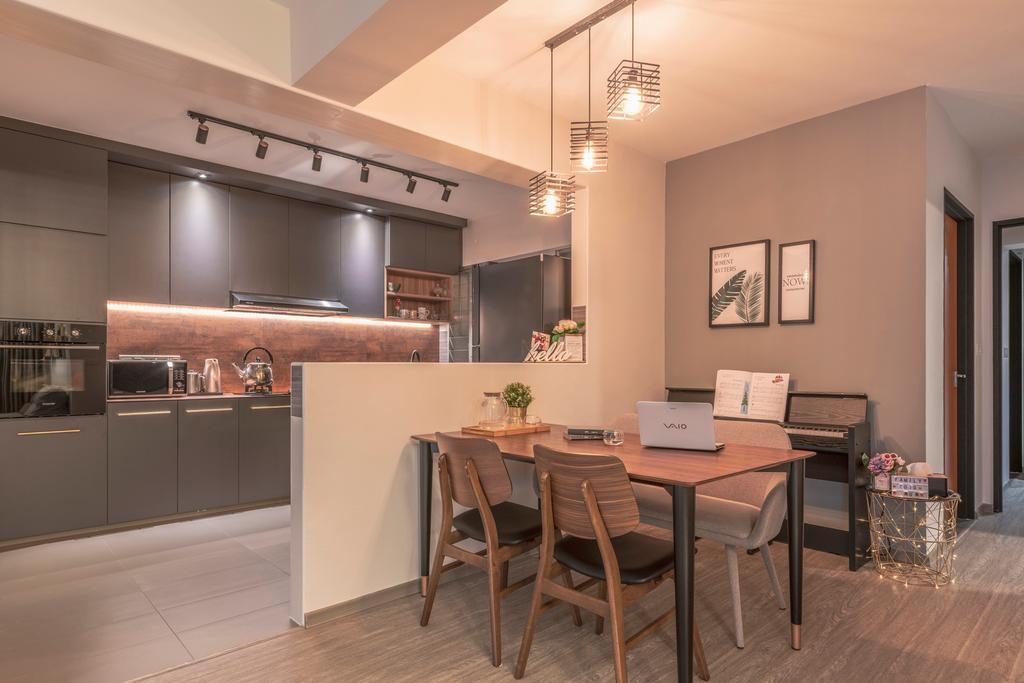 Contemporary, HDB, Kitchen, Woodlands Street 13, Interior Designer, SHE Interior, Scandinavian
