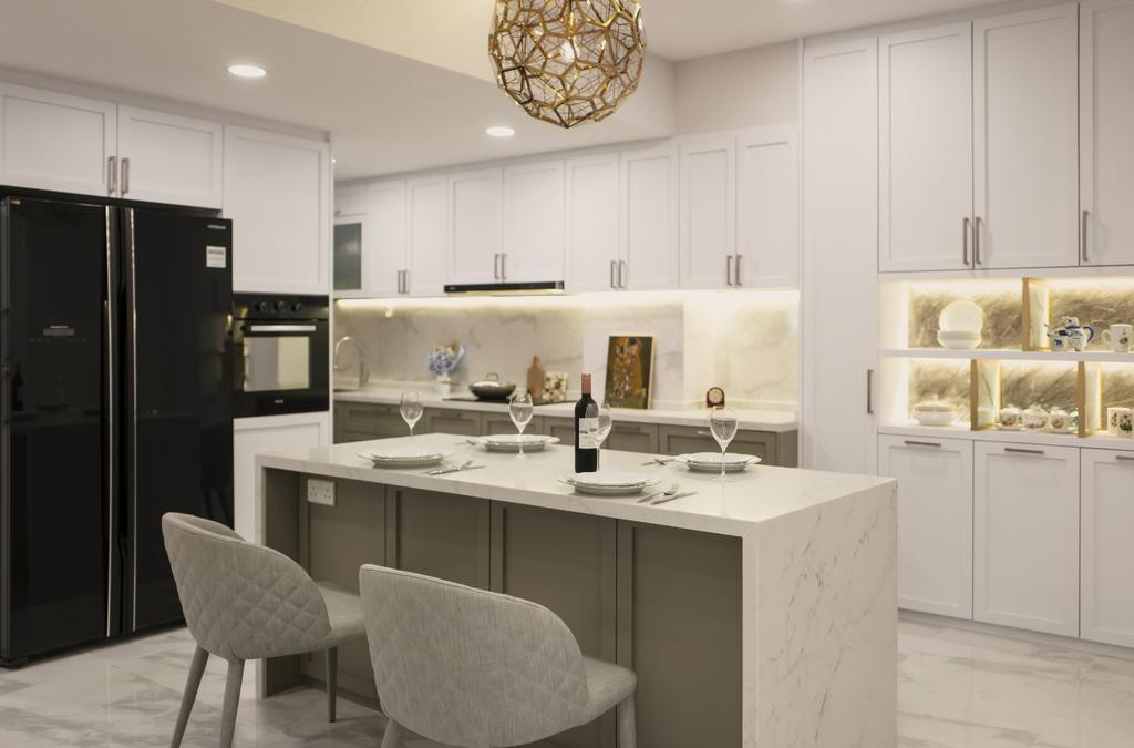 Contemporary, Condo, Kitchen, Meadow Lodge, Interior Designer, SHE Interior, Kitchen Island