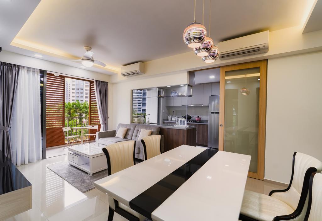 Contemporary, Condo, Dining Room, Parc Life, Interior Designer, SHE Interior